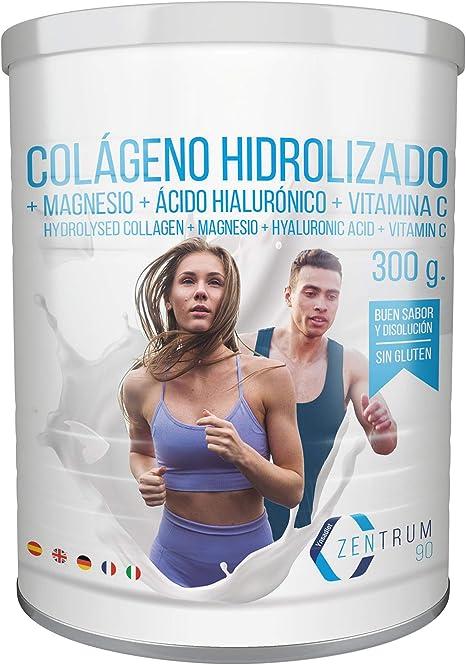 Colágeno hidrolizado en polvo con magnesio, ácido hialurónico y ...