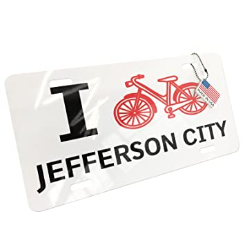 Amazoncom Neonblond Metal License Plate I Love Cycling City