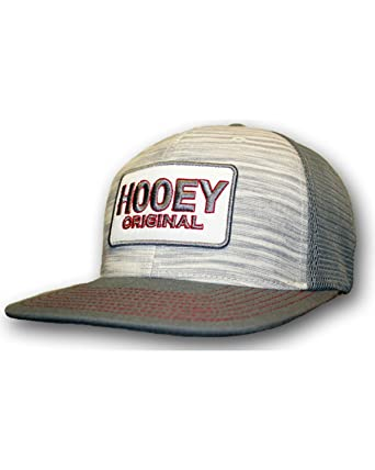 44cac0829c826 HOOey Men s Grey Original Logo Trucker Hat - 1629T-Gyrd at Amazon Men s  Clothing store