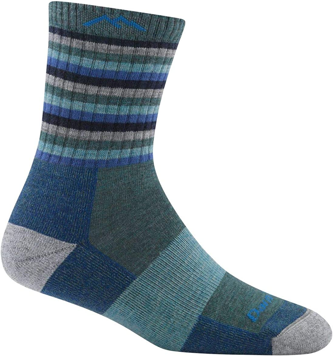 Womens Darn Tough Hike//Trek Micro Cushion Stripe Crew Socks