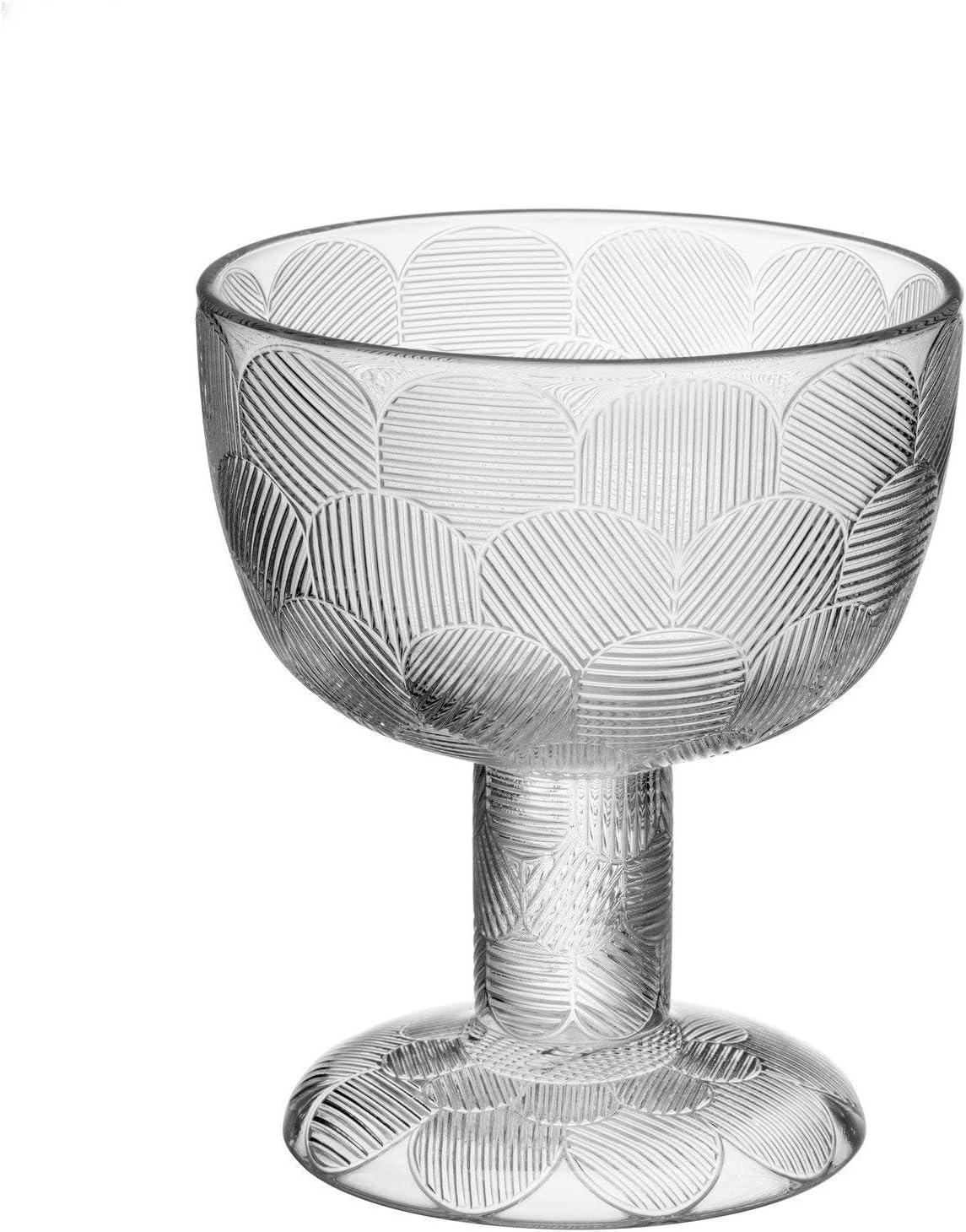 Glas Iittala 1051294 Miranda Schale auf Fu/ß