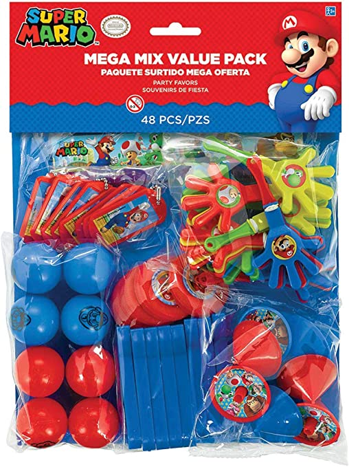 Super Mario Bros Party Mega Mix Value Favour pack - Fill your party bags with ease! by Super Mario Bros: Amazon.es: Hogar