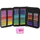 MEGICOT 色鉛筆 72色 油性色鉛筆 画材セット 塗り絵 描き用 収納バッグ付き 鉛筆削り付き 携帯便利