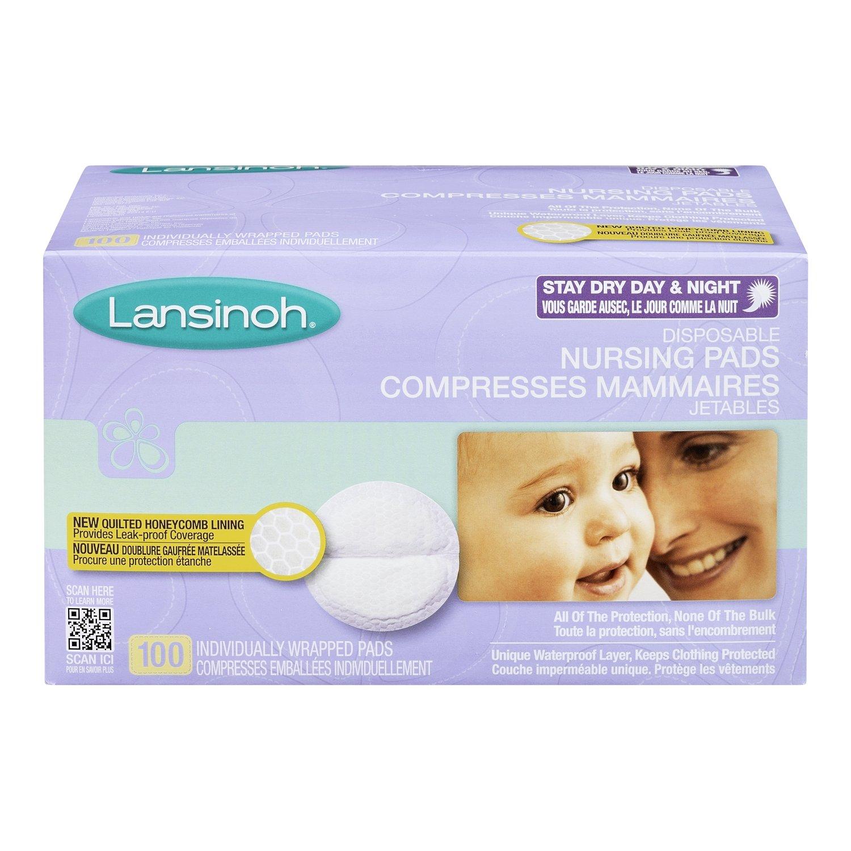 100-Count Lansinoh Disposable Nursing Pads
