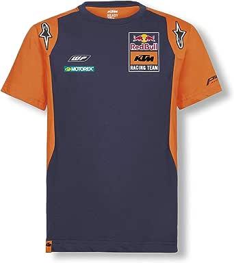 Red Bull KTM Official Teamline Camiseta, Azul Niños Top, KTM Factory Racing Original Ropa & Accesorios