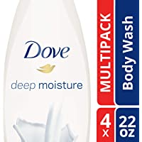 4-Pack Dove Body Wash, Deep Moisture 22oz