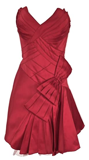 622e6f812a9e Karen Millen Red Bow Corset Prom Dress Satin Womens Size 12