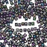 abalorio de letras - abalorios de alfabeto para niños, bisutería, pulsera, collares, abalorio de cubeta multicolor, 1000-Count, 1