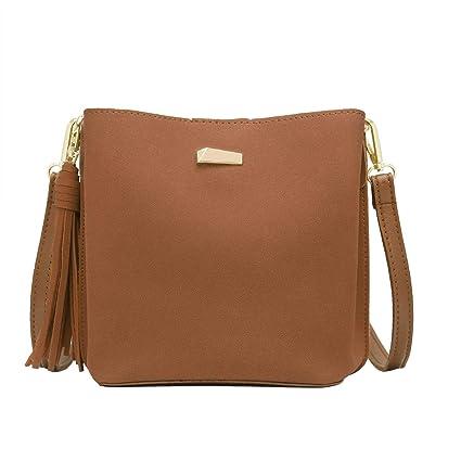 97c6558f30 CRAZYCHIC - Petit Sac à Main Bandoulière Seau Cuir Daim Femme - Bucket Bag  - Sac