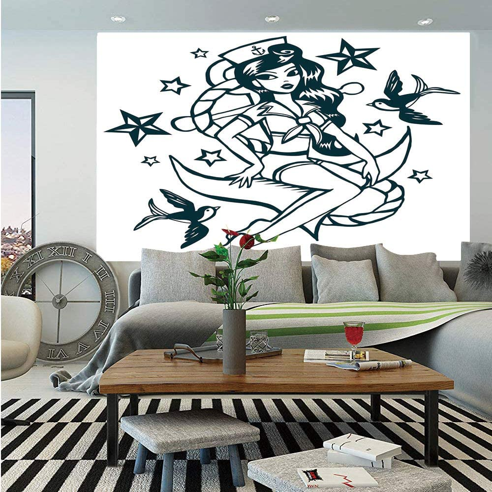 Amazon Com Anchor Huge Photo Wall Mural Pin Up Girl Nautical