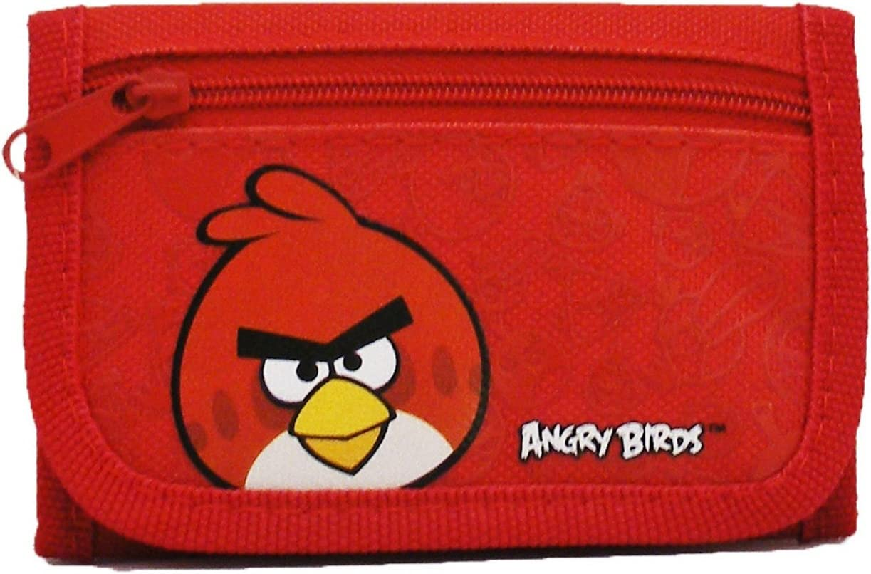 Angry Bird Set of 3 Tri-Fold Mini Wallet Kids Back to School Supply