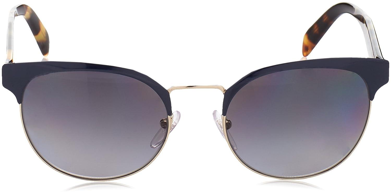 Prada 0PR61TS VH85W1, Occhiali da Sole Donna, Blu (Bluette/Pale Gold/Polargreygradient), 54