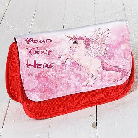 Personalizado - Unicornio de DP018 Rojo Estuche Escolar ...