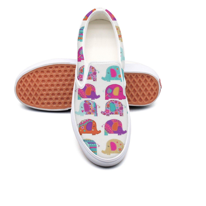 seventtynine We Love Elephants Classic Men Canvas Slip-Ons Loafer Shoes Sneaker