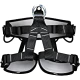 Climbing Harness, Yougeyu Safe Seat Belts Professional Rock Climbing Rappelling Equip Protect Leg Waist Wider Safety Harness with Padded for Mountaineering, Tree Climbing, Fire Rescue