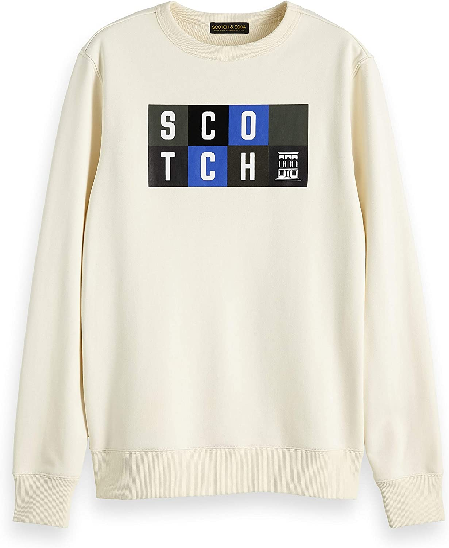 Shirt Homme Scotch /& Soda Clean Crewneck Sweat with Chest Artwork