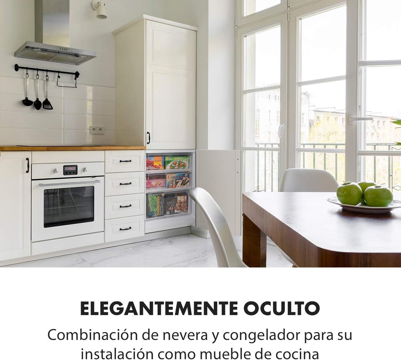Klarstein CoolZone 250 Eco nevera con congelador - Nevera combi ...
