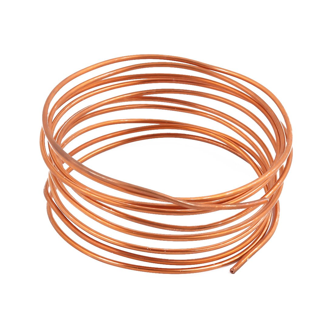 uxcell 2.0mm Dia 2.4M 7.9Ft Length Copper Tone Refrigerator Refrigeration Tubing Coil