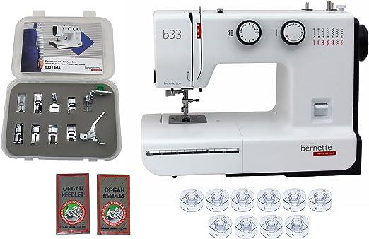 Bernette 33 Máquina de coser de diseño suizo con paquete exclusivo ...