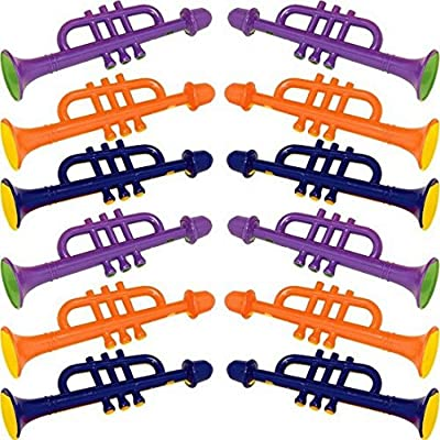 Colorful Kids Trumpets | Party Favor | Pack of 10: Kitchen & Dining