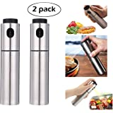 Stainless Steel Oil Vinegar Sprayer Dispenser Spraying Bottle Mist for Cooking Paste, Salads, BBQ, Grill, Set of 2(100ml)