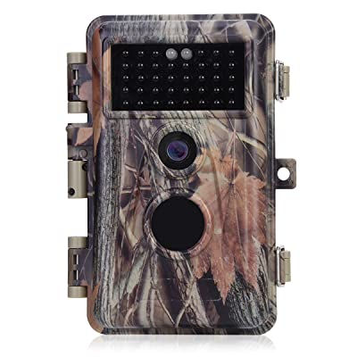 BlazeVideo Night Vision 65ft 16MP HD 1920x1080P Video Game Trail Camera Hunters Wildlife Hunting Cam No Glow IR LED PIR Motion Sensor Activated IP66...
