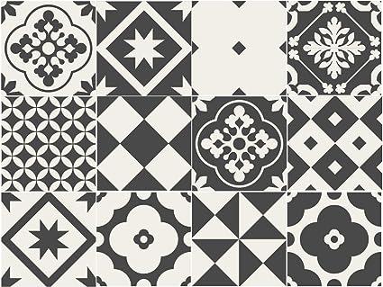 Sirface geometrico greyscale tile adesivi per piastrelle set per