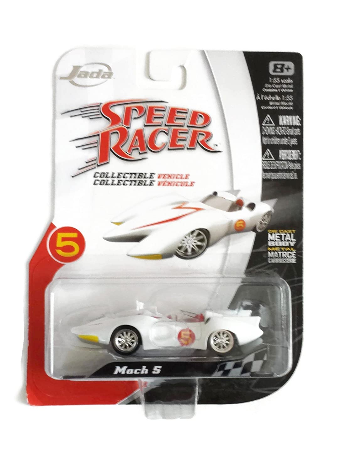 Amazon com speed racer mach 5 die cast 155 scale vehicle by jada toys games