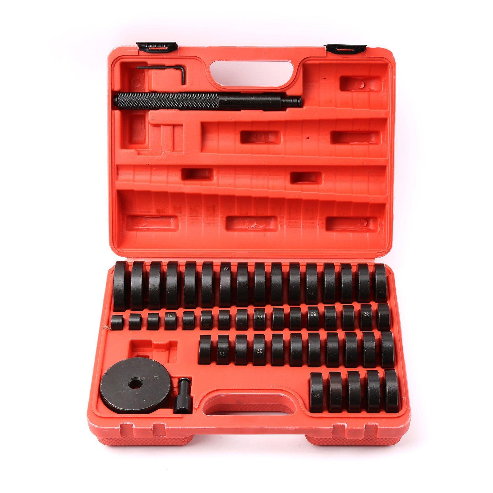 WINTOOLS 52 Pcs Custom Bushing Bearing & Seal Driver Set Tool 18mm - 65mm