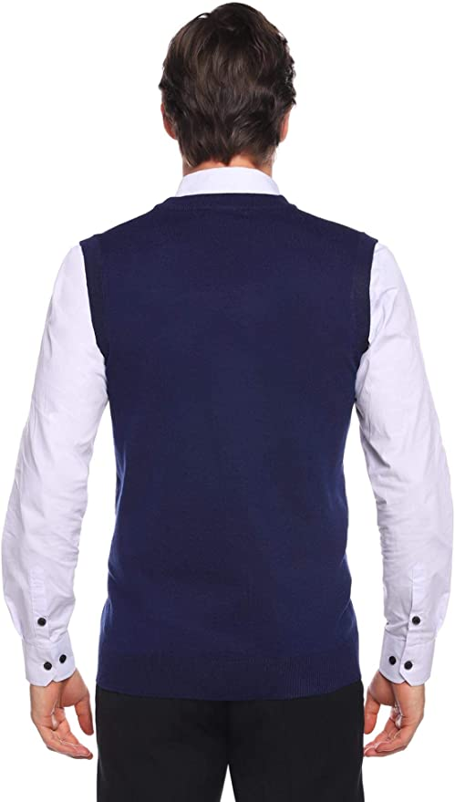Aibrou Chaleco Sin Mangas Hombre Suéter Tanque Tops Invierno ...