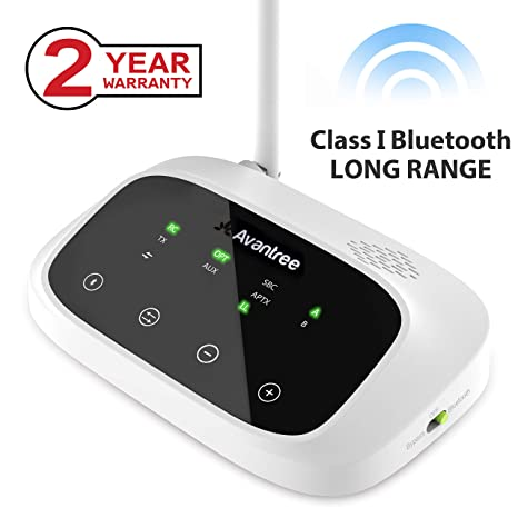 Avantree Transmisor Bluetooth Versión Actualizada de LARGO ALCANCE 50 Metros para el Audio de TV,