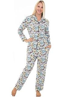 Alexander Del Rossa Womens Flannel Pajamas, Long Novelty Cotton Pj Set