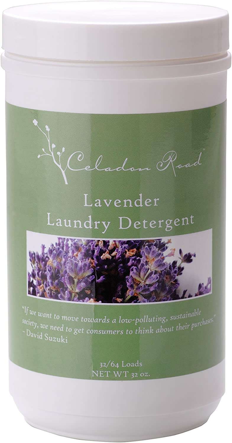 Celadon Road Lavender Laundry Detergent All Natural Ingredients Made in USA Ultra Concentrated - Sulfate-Free and Phosphate Free - 64 HE Loads 32oz