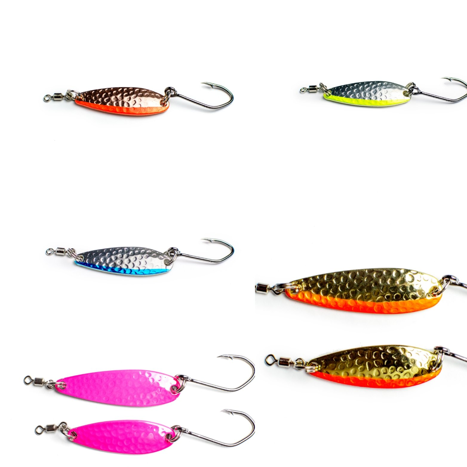 Prime Lures Chrome Candy Fishing Spoons UV Pink Slim (Pink, 1/2oz) by Prime Lures