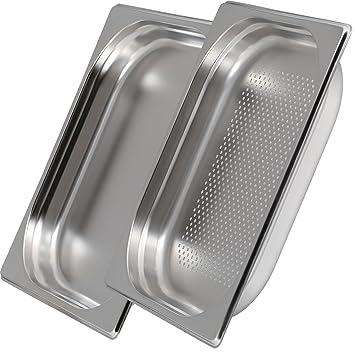 Greyfish Gastronorm 1/2 - Juego de bandejas para hornos de cocción al vapor Gaggenau