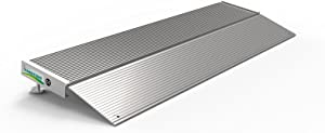"""EZ-ACCESS TRANSITIONS Aluminum Threshold Ramp with Adjustable Height up to 2-3/4"""", 12"""" L x 36"""" W"""