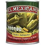 El Mexicano Chiles Jalapeños Enteros, Picante, 737 g