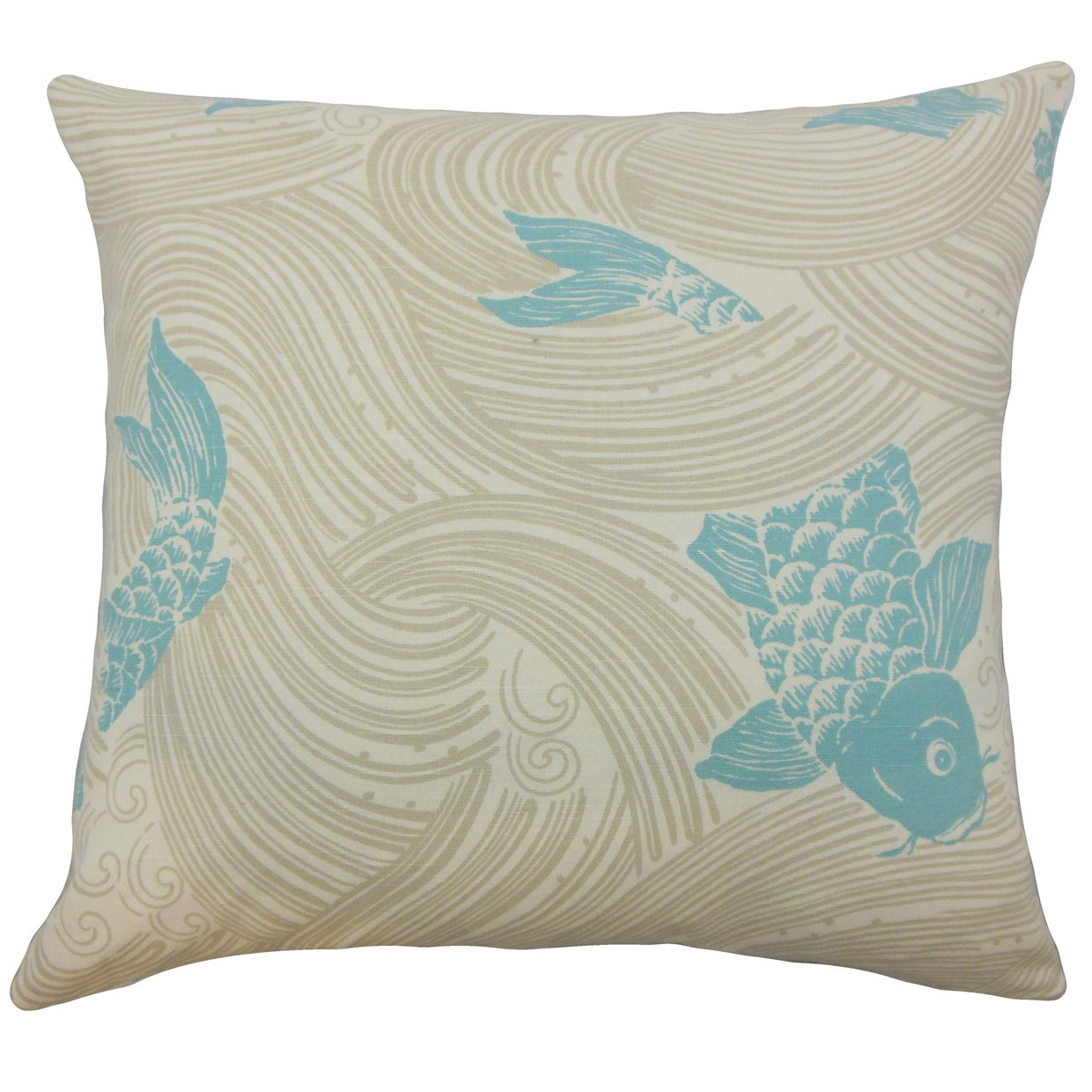 The Pillow Collection Ailies Graphic Bedding Sham Lagoon Standard/20 x 26'