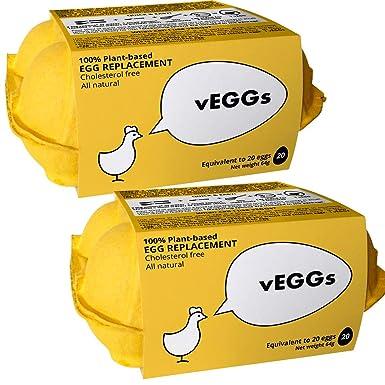 ENVÍO GRATIS* Sustituto de Huevo 100% Vegano basado en plantas para preparar postres veganos | 100% Sin Gluten | Facil de preparar (Pack de 2)