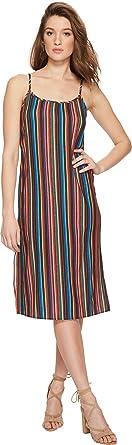 a44118aa0210 Show Me Your Mumu Women's Shiloh Tassel Slip Dress Siesta Siesta Stripe  X-Small