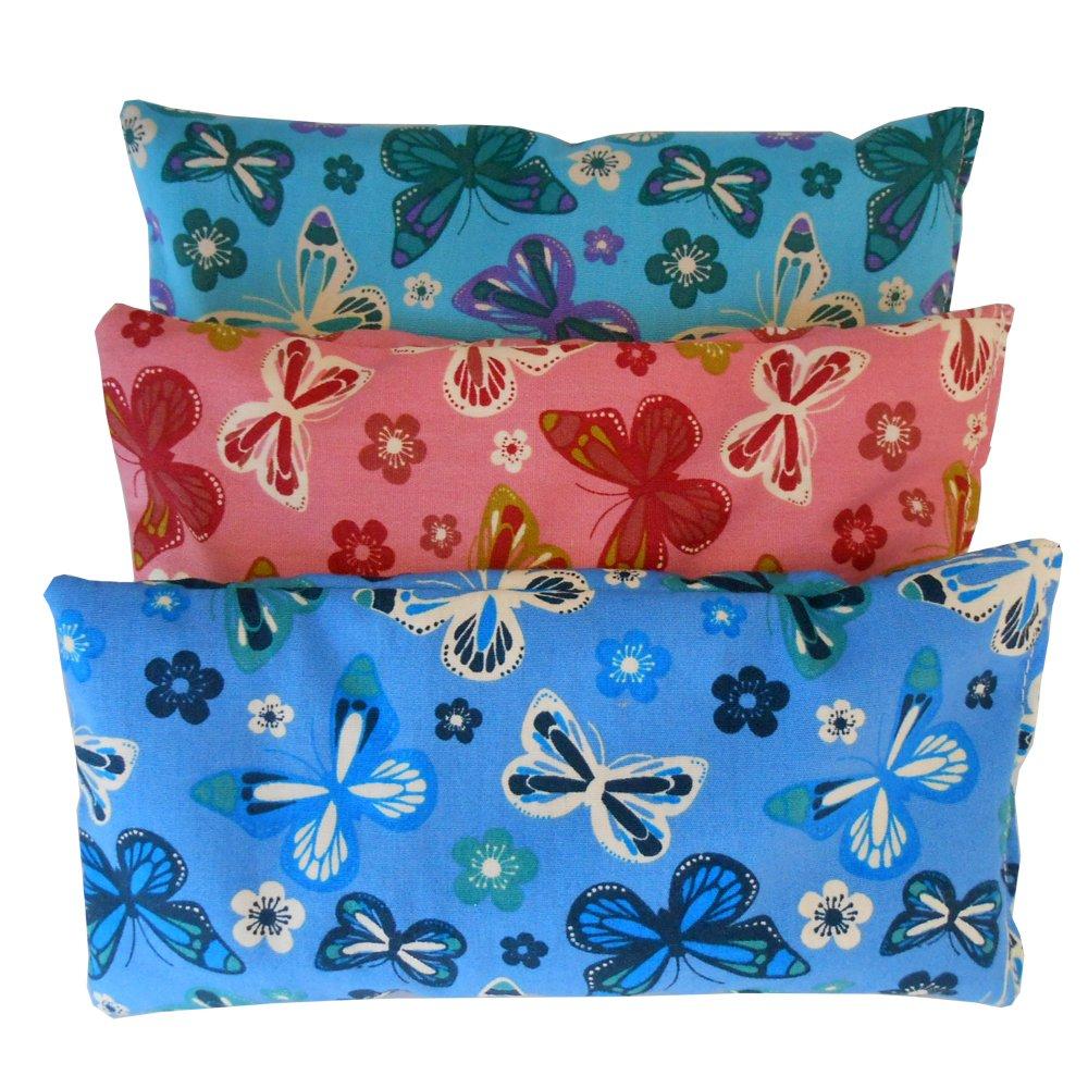 Oreillers pour les yeux Pack 3 - Papillons | Graines de Lavande et de riz | Yoga, méditation, relaxation, reposer des yeux...