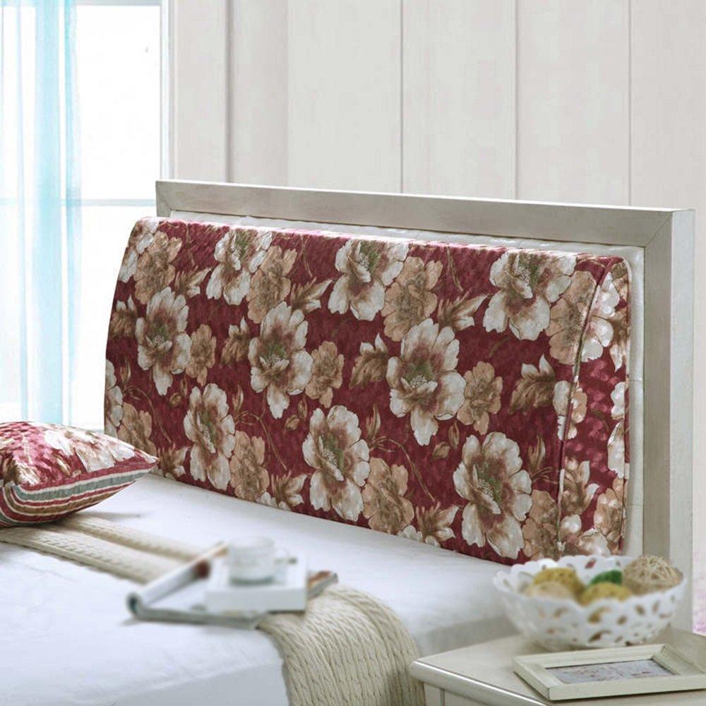Washable headboard backrest / bedside soft cover cushion / curved backrest / double bed backrest / triangular cushion ( Size : 1205012cm )