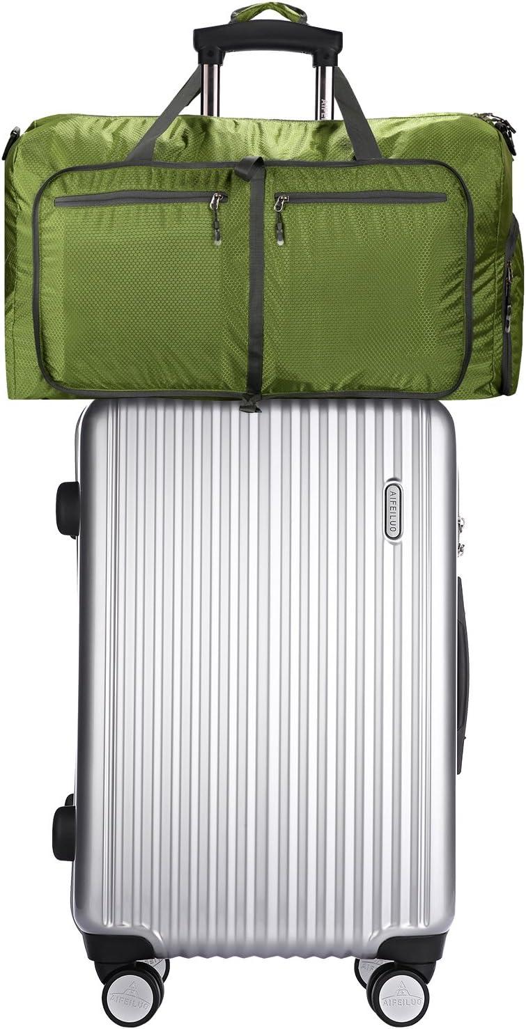 Vert fonc/é, 85L Sailnovo Sac de Voyage 85L Sac Pliable Sac imperm/éable Pliant pour Camping Randonn/ée Voyage