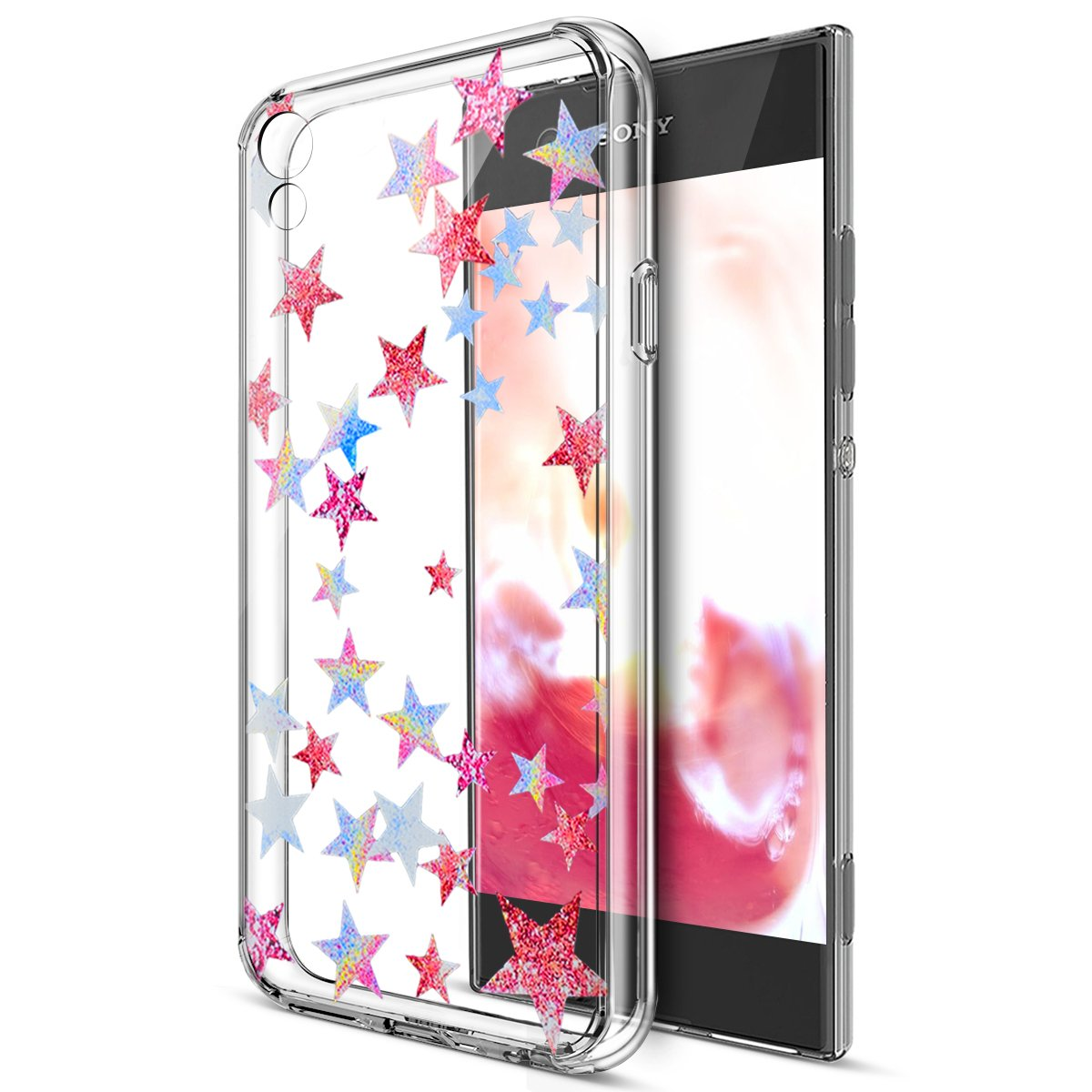 Sony Xperia Xa1 Ultra Casesony Cover Peonia Electroplating Transparent Ultrathin Case Samsung J7 Pro 2017 Coverikasus Art Painted Flowers Crystal Clear Slim Flexible Soft Rubber Gel Tpu Protective
