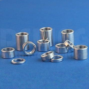 Distanzhülsen Abstandshalter Distanzringe Buchse Hülsen aus  Aluminium