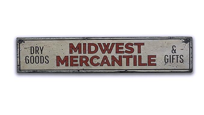 Amazon.com: Midwest Mercantile mercancías, señal de ...