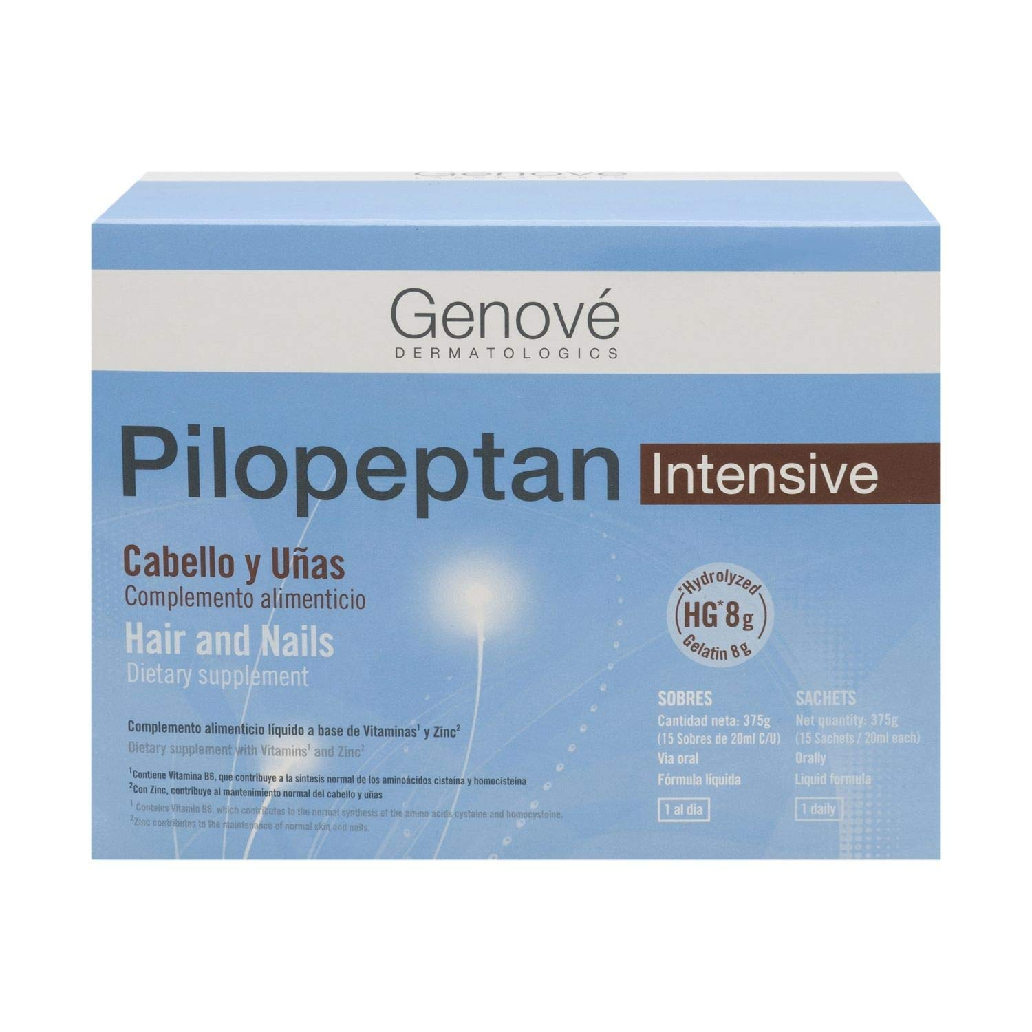 Amazon.com : Genové Pilopeptan Intense Hair And Nails 15 Sachets - Anti Hair Loss Treatment - Hair Regrowth Treatment - Collagen for Your Nails : Beauty