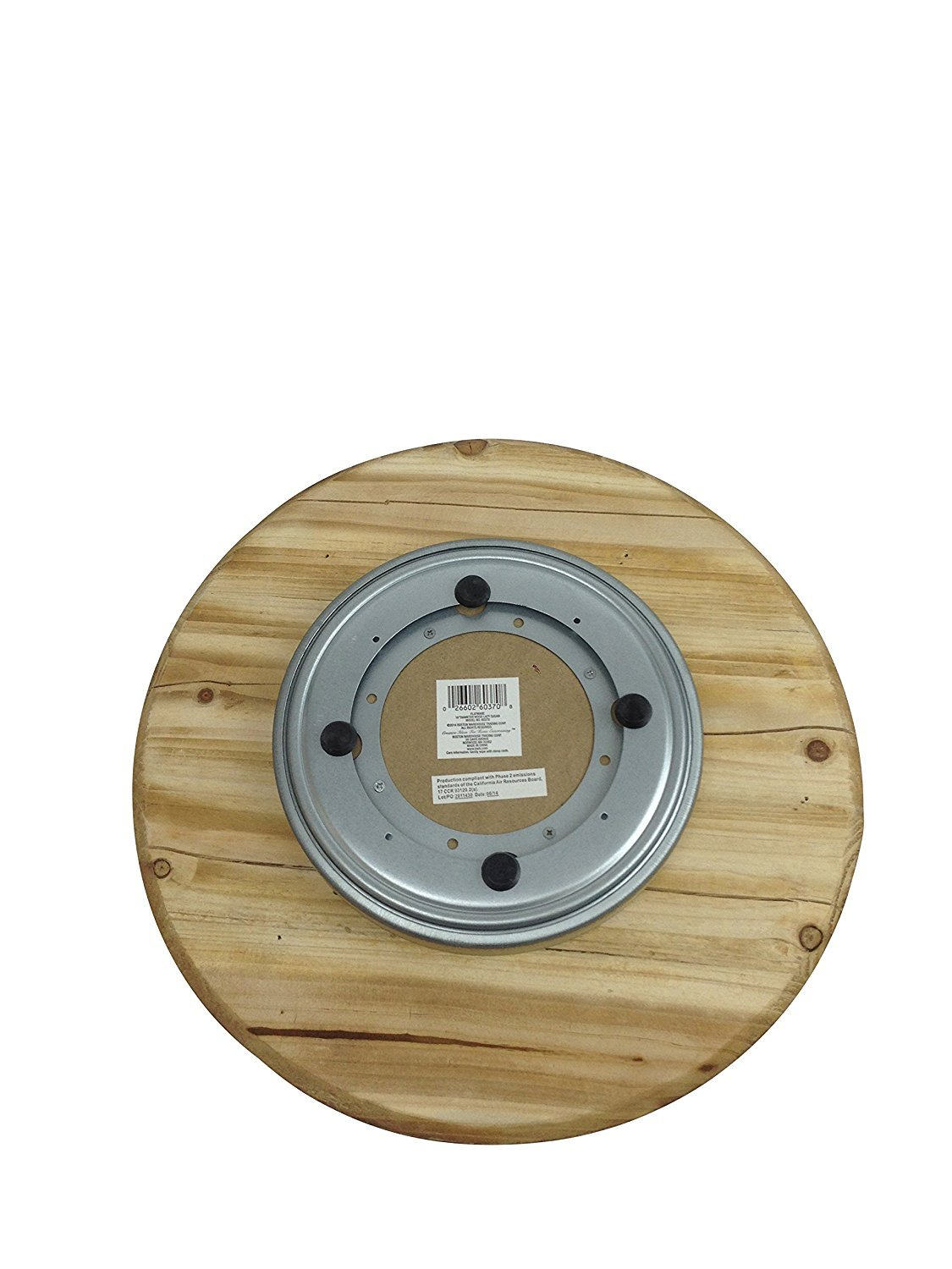 amazoncom boston warehouse hand crafted wood lazy susan and turntable tustic rooster kitchen u0026 dining