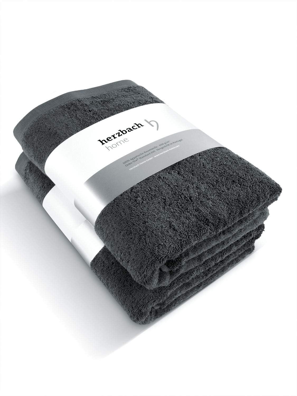 Coton 600/g//m/² ultra doux Herzbach Lot de 3 Serviettes de toilette de haute qualit/é wei/ß 100/x 33/cm 33 x 33 cm 100 /% coton /égyptien