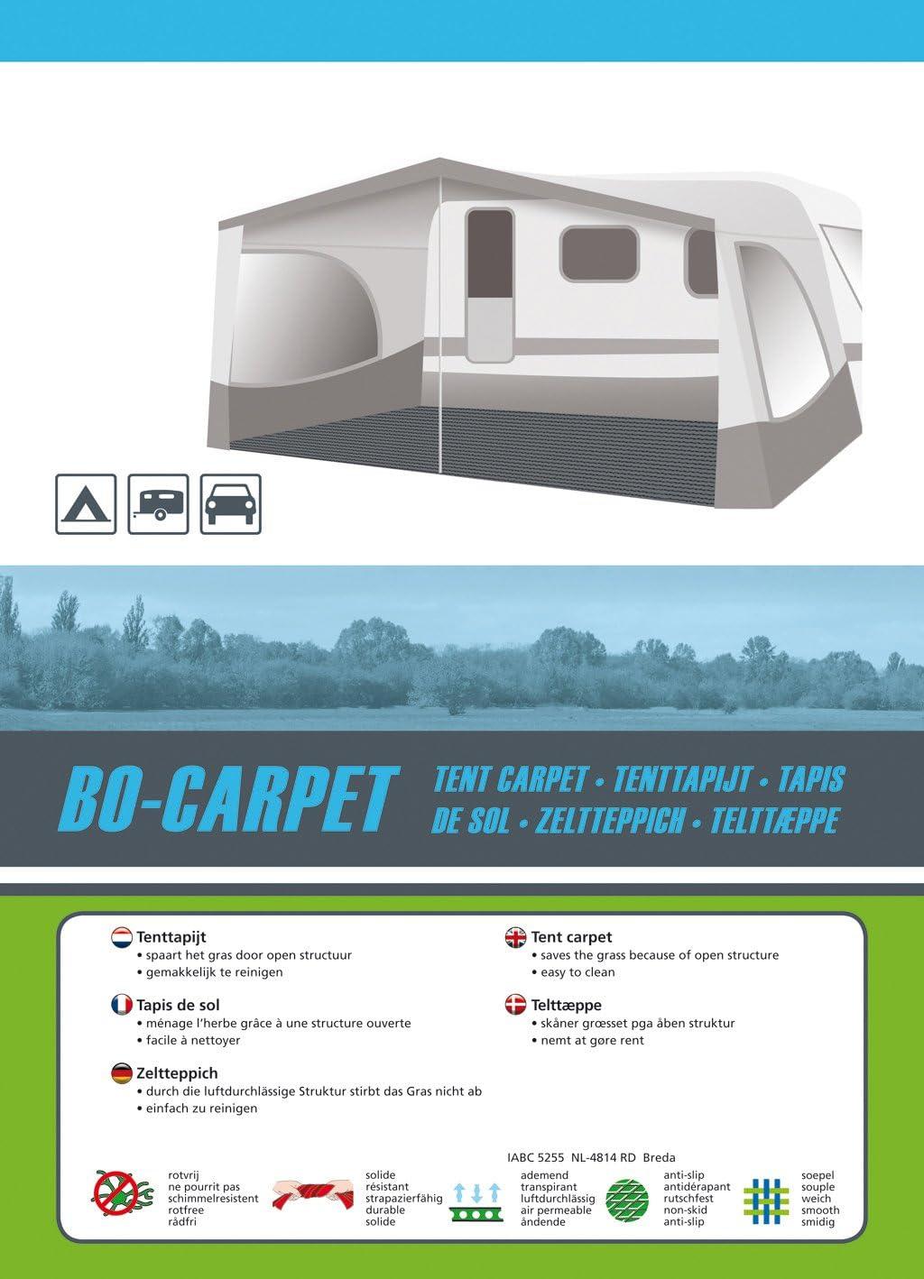 Zeltmatte Bo-Camp Bo-Teppich 2,5 x 5,5 Meter Grau